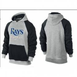 MLB Men Nike Tampa Bay Rays Pullover Hoodie GreyBlack