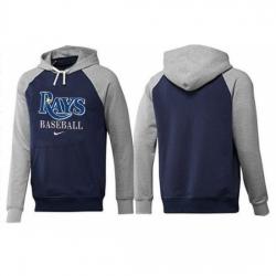 MLB Men Nike Tampa Bay Rays Pullover Hoodie NavyGrey