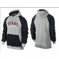 MLB Men Nike Texas Rangers Pullover Hoodie GreyBlack