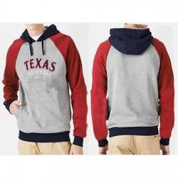 MLB Men Nike Texas Rangers Pullover Hoodie GreyRed