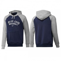 MLB Men Nike Toronto Blue Jays Pullover Hoodie NavyGrey