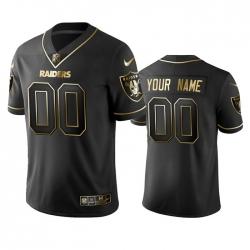 Men Women Youth Toddler Las Vegas Raiders Custom Men Stitched NFL Vapor Untouchable Limited Black Golden Jersey