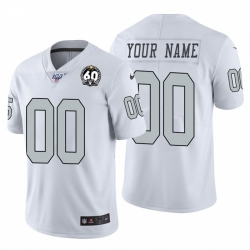 Men Women Youth Toddler Nike Las Vegas Raiders Custom White 60th Anniversary Patch Men Stitched NFL 100 Limited Color Rush Jersey