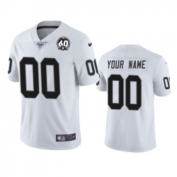 Men Women Youth Toddler Nike Las Vegas Raiders Custom White 60th Anniversary Vapor Limited Stitched NFL 100th Season Jersey