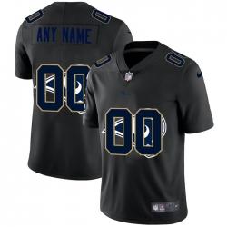 Men Women Youth Toddler Los Angeles Rams Custom Men Nike Team Logo Dual Overlap Limited NFL Jerseyey Black