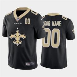 Men Women Youth Toddler New Orleans Saints Custom Black Men Nike Big Team Logo Player Vapor Limited NFL Jersey