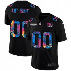 Men Women Youth Toddler New York Giants Custom Men Nike Multi Color Black 2020 NFL Crucial Catch Vapor Untouchable Limited Jersey