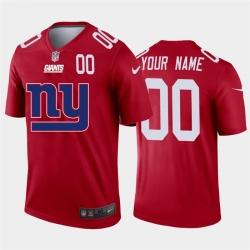 Men Women Youth Toddler New York Giants Custom Red Men Nike Big Team Logo Player Vapor Limited NFL Jersey