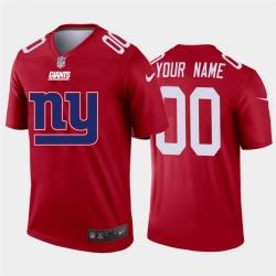 Men Women Youth Toddler New York Giants Custom Red Men Nike Big Team Logo Vapor Limited NFL Jersey