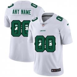 Men Women Youth Toddler New York Jets Custom White Men Nike Team Logo Dual Overlap Limited NFL Jersey
