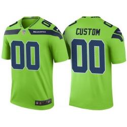 Men Women Youth Seattle Seahawks Green Custom Color Rush Legend NFL Nike Limited Jersey