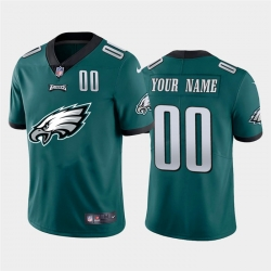 Men Women Youth Toddler Philadelphia Eagles Custom Green Men Nike Big Team Logo Player Vapor Limited NFL Jersey