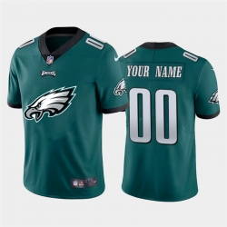 Men Women Youth Toddler Philadelphia Eagles Custom Green Men Nike Big Team Logo Vapor Limited NFL Jersey