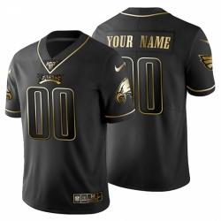 Men Women Youth Toddler Philadelphia Eagles Custom Men Nike Black Golden Limited NFL 100 Jersey