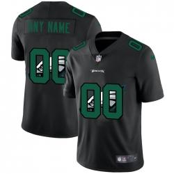 Men Women Youth Toddler Philadelphia Eagles Custom Men Nike Team Logo Dual Overlap Limited NFL Jerseyey Black