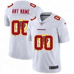 Men Women Youth Toddler Washington Redskins Custom White Men Nike Team Logo Dual Overlap Limited NFL Jersey