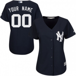 Men Women Youth All Size New York Yankee Custom Cool Base MLB Jersey Navy