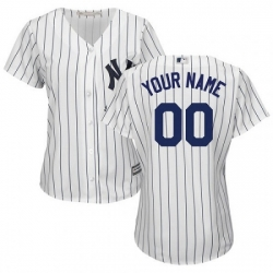 Men Women Youth All Size New York Yankee Custom Cool Base MLB Jersey White