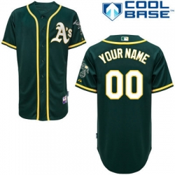 Men Women Youth All Size Oakland Athletics Green Customized Cool Base Jersey