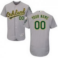 Men Women Youth All Size Oakland Athletics Majestic Road Gray Flex Base Authentic Collection Custom Jersey
