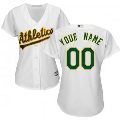 Men Women Youth All Size Oakland Athletics white custom Cool Base Jersey