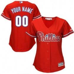 Men Women Youth All Size Philadelphia Phillies Cool Base Custom MLB Jersey Red