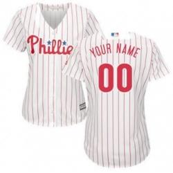 Men Women Youth All Size Philadelphia Phillies Cool Base Custom MLB Jersey White Red Strips