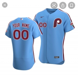 Philadelphia Phillies Light Blue Custom jersey