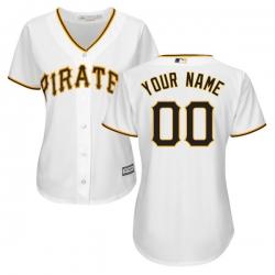 Men Women Youth All Size Pittsburgh Pirates Cool Base Custom Jersey White