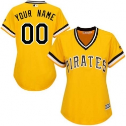 Men Women Youth All Size Pittsburgh Pirates Cool Base Custom Jersey Yellow