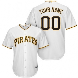 Men Women Youth All Size Pittsburgh Pirates Majestic White Cool Base Custom Jersey 3