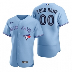 Men Women Youth Toddler All Size Toronto Blue Jays Custom Nike Light Blue Stitched MLB Flex Base Jersey