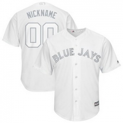 Men Women Youth Toddler All Size Toronto Blue Jays Majestic 2019 Players Weekend Cool Base Roster Custom White Jersey