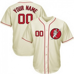 Men Women Youth Toddler All Size Washington Nationals Cream Customized Cool Base New Design Jersey