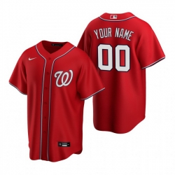 Men Women Youth Toddler All Size Washington Nationals Custom Nike Red Stitched MLB Cool Base Jersey