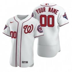 Men Women Youth Toddler All Size Washington Nationals Custom Nike White 2020 Stitched MLB Flex Base Jersey