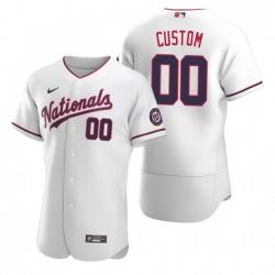 Men Women Youth Toddler All Size Washington Nationals Custom Nike White Stitched MLB Flex Base Jersey