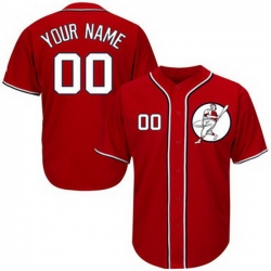 Men Women Youth Toddler All Size Washington Nationals Red Customized Cool Base New Design Jersey