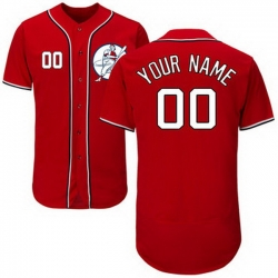 Men Women Youth Toddler All Size Washington Nationals Red Customized Flexbase New Design Jersey