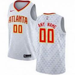 Men Women Youth Toddler All Size Nike Atlanta Hawks Nike White Swingman Custom Icon Edition Jersey