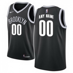 Men Women Youth Toddler All Size Nike Brooklyn Nets Customized Authentic Black NBA City Edition Jersey 2