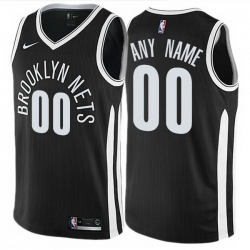 Men Women Youth Toddler All Size Nike Brooklyn Nets Customized Authentic Black NBA City Edition Jersey