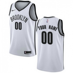 Men Women Youth Toddler All Size Nike Brooklyn Nets Customized Authentic White NBA Association Edition Jersey