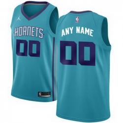 Men Women Youth Toddler All Size Nike Charlotte Hornets Light Blue NBA Swingman Custom Jersey