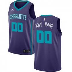 Men Women Youth Toddler All Size Nike Charlotte Hornets Purple NBA Swingman Custom Jersey