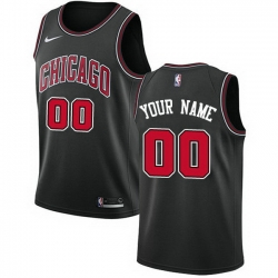 Men Women Youth Toddler All Size Nike Chicago Bulls Customized Swingman Black Statement Edition NBA Jersey