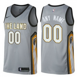 Men Women Youth Toddler All Size Nike Cleveland Cavaliers Customized Swingman Gray NBA City Edition Jersey