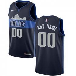 Men Women Youth Toddler All Size Nike Dallas Mavericks Customized Authentic Navy Blue NBA Statement Edition Jersey