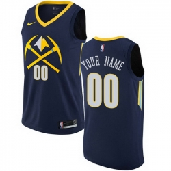 Men Women Youth Toddler All Size Nike Denver Nuggets Customized Swingman Navy Blue NBA City Edition Jersey
