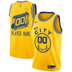 Men Women Youth Toddler Golden States Warriors Customized Jersey 005